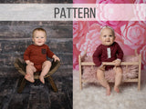 Sitter Romper with Sleeves Pattern Tutorial