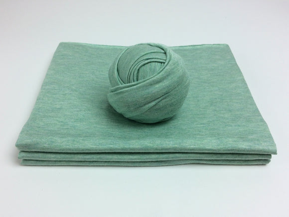 Green Chambray Newborn Stretch Wrap