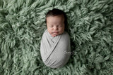 Light Heathered Grey Newborn Stretch Wrap