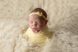 Sunshine Yellow Newborn Stretch Wrap