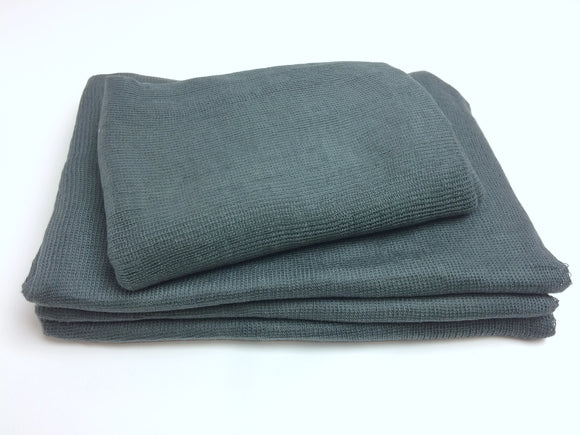 Charcoal Grey Textured Knit Newborn Wrap