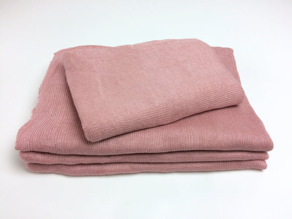 Rose Pink Textured Knit Newborn Wrap