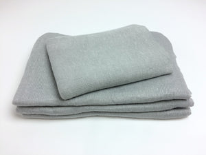 Silver Textured Knit Newborn Wrap