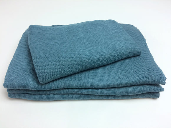 Blue Teal Textured Knit Newborn Wrap