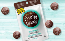 Single pack of Grass Roots Kitchen Energy Spheres in Coolest Mint flavour.