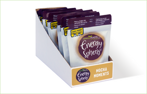 Multi pack of Grass Roots Kitchen Energy Spheres in Mocha Moments flavour.