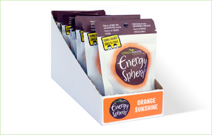 Multi-pack of Grass Roots Kitchen Energy Spheres in Orange Sunshine flavour.