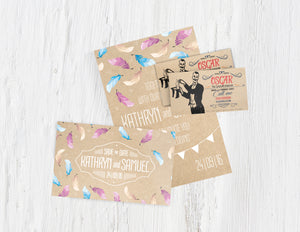 Kraft paper announcements and business cards
