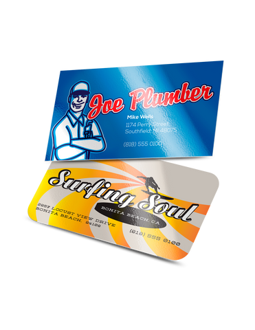 Gloss Laminated Luster Business Cards