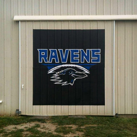 Ravens logo outdoor wall decal.