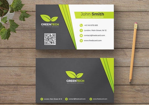 Business card printed full color on natural card stock
