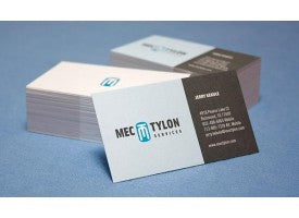 Full color business cards printed on uncoated matte white stock
