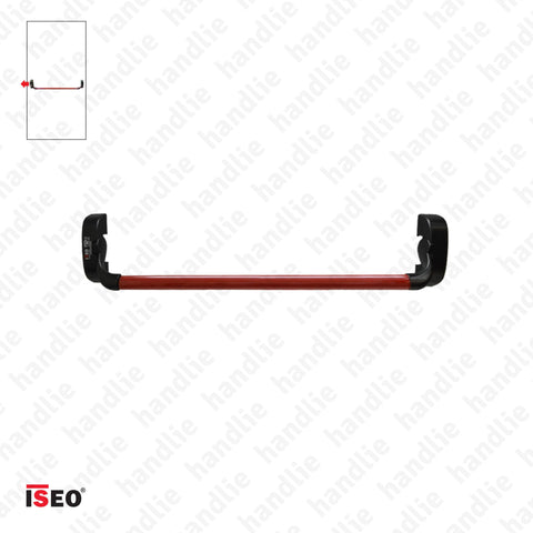 IDEA BASE - Rim panic bar with 1 locking point - Red