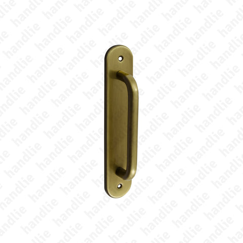 A.5336 - Single pull handle for doors - Brass