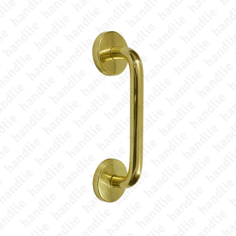 A.5337 - Single pull handle for doors - Brass