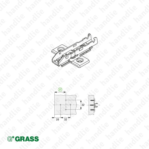 ACE.GRA.F058 - Cross Mounting Plates - Grass TIOMOS Click - 3D and 4D Adjustment | GRASS