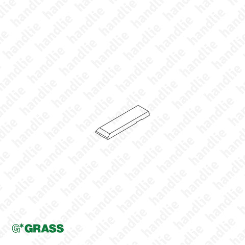 "ACE.GRA.F072.135.500 - Cover cap for ""TIOMOS"" hinge arm - Full Overlay - Nickel 