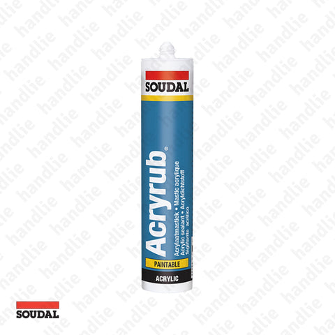 ACRYRUB - SOUDAL - Paintable Sealant - Acrylics