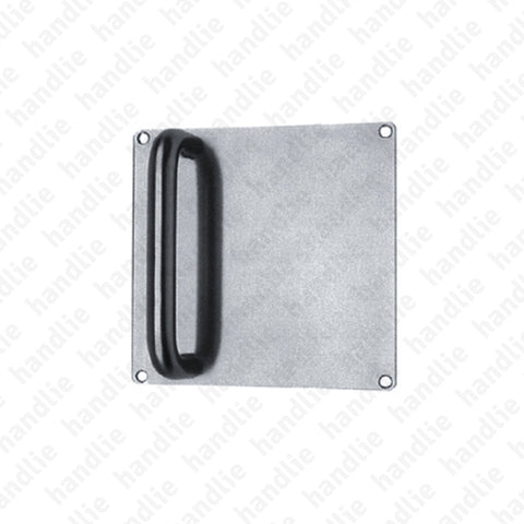 A.IN.8305 - Single or back to back pull handle with plate for doors - Stainless Steel