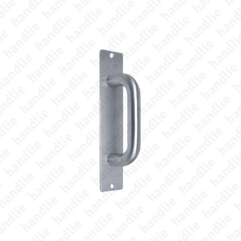 A.IN.8306 - Single pull handle with plate - Stainless Steel