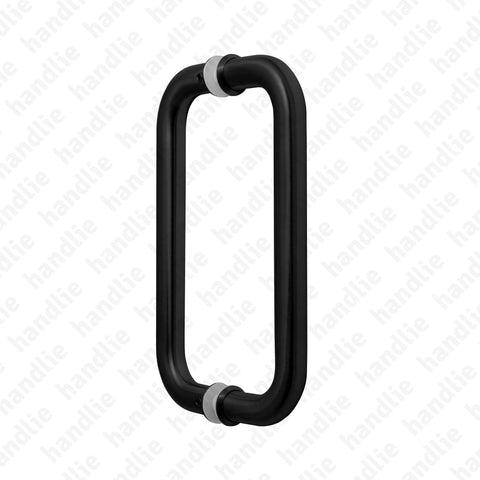 A.IN.8323.A - Back to back pull handle for doors - Matt Black Stainless Steel