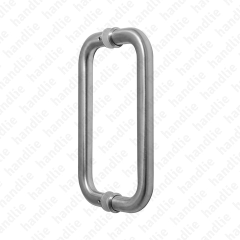 A.IN.8323.A - Back to back pull handle for doors - Stainless Steel