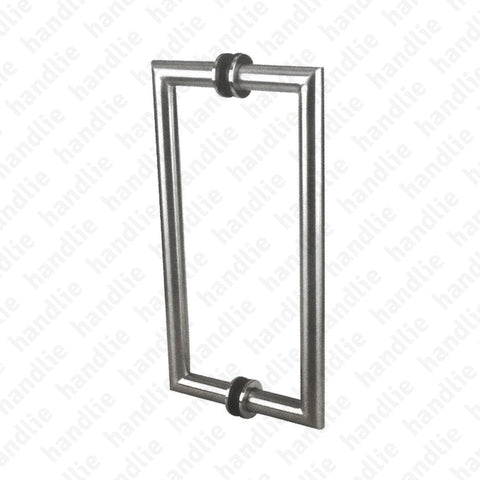 A.IN.8324.A - Back to back pull handle for doors - Stainless Steel