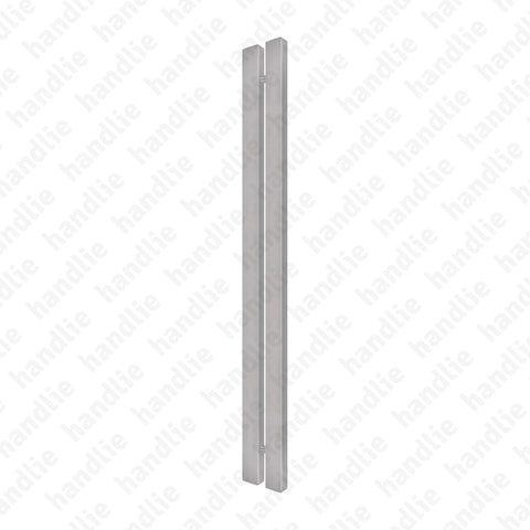 A.IN.8406P - Back to back pull handle for doors - Stainless Steel