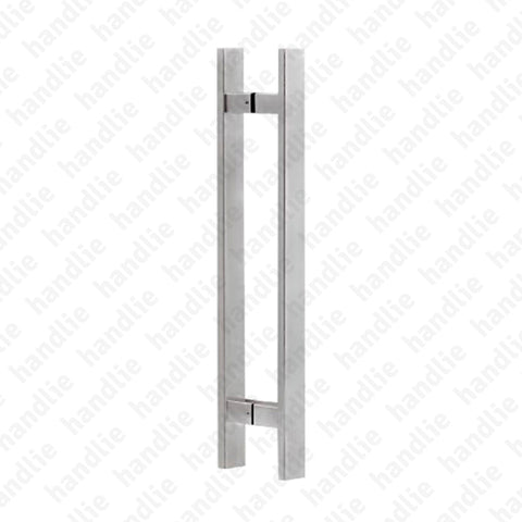A.IN.8407P - Back to back pull handles for doors - STAINLESS STEEL