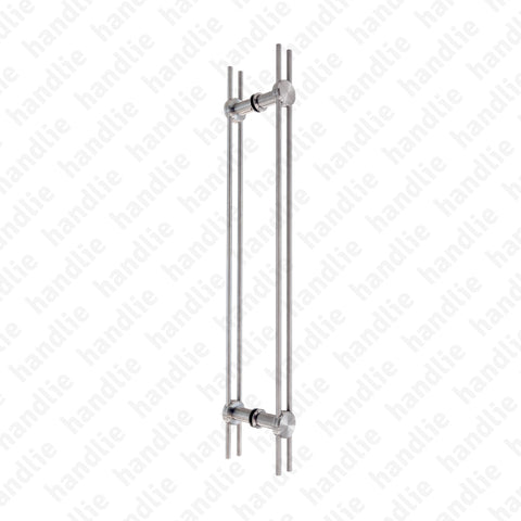 A.IN.8409P - Back to back pull handles for doors - Stainless Steel