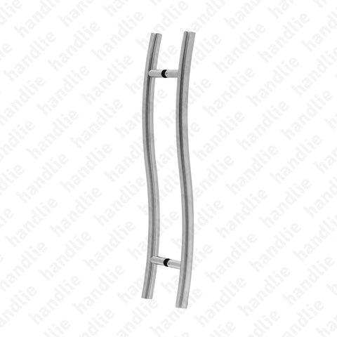 A.IN.8411P - Back to back pull handles for doors - Stainless Steel