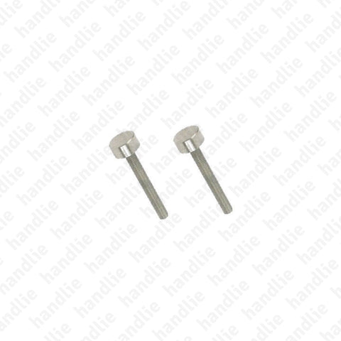 ASMO - Concealed screw kit - Single pull handle / Wooden doors / Aluminium doors fixing