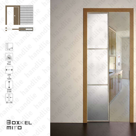 BK.10 - BOXKEL MITO Frame for single sliding doors - Plaster