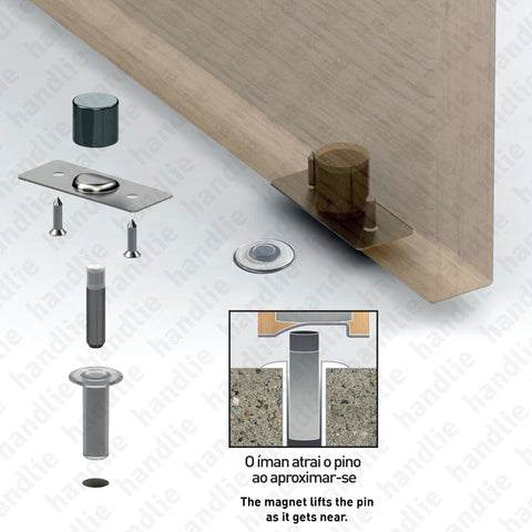 BP.1490 - Concealed magnetic door stop