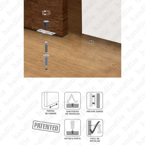 BP.1495 - Door stop for sliding doors - magnetic and concealed