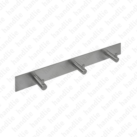 CAB.IN.505.3 - 3-Hook Rail - Ø14x40 - STAINLESS STEEL