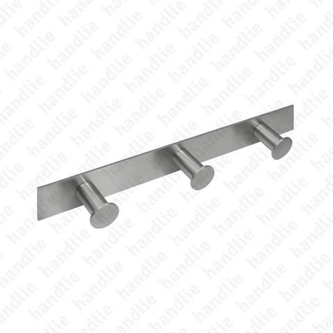 CAB.IN.520.3 - 3-Hook Rail - Ø20x40 - Stainless Steel