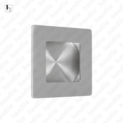 CE.IN.8223 - Flush handle - 50mm and 70mm Square - Stainless Steel