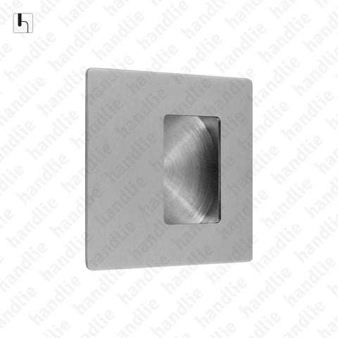CE.IN.8224 - Flush handle - 70mm and 110mm Square - Stainless Steel