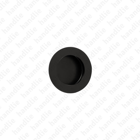 CE.IN.8225 - Flush handle - Ø40 and Ø65 - Matt Black Stainless Steel