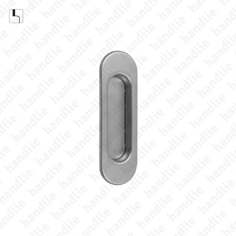 CE.IN.8245 - Oval flush handle - 125x40 - Stainless Steel