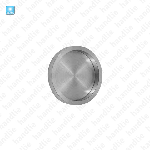CE.IN.8527 - Flat flush handle for glass or wooden doors - Ø65 - Stainless Steel