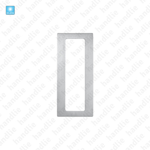 CE.IN.8678A - Rectangular flat flush handle for glass or wooden doors - Stainless Steel