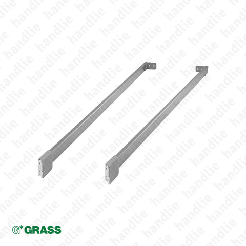 CL.NPRO.DTQ - NOVA PRO rectangular railing kit for NOVA PRO DELUXE pull-outs | GRASS
