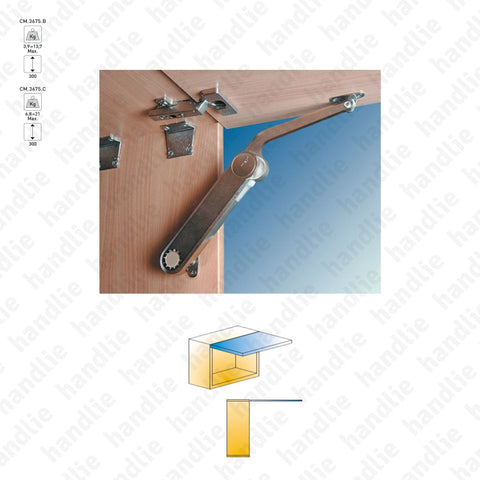 CM.3675 - MAXI - Lid stay / lift mechanism for cabinet doors