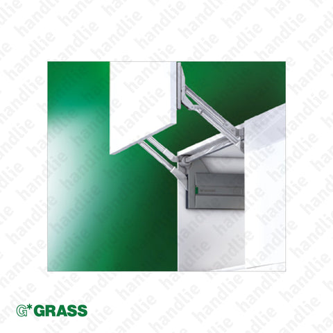 CM.L80 - Lid Stay - Lift mechanism with reinforced and adjustable spring - damper - 3D Adjustment | GRASS