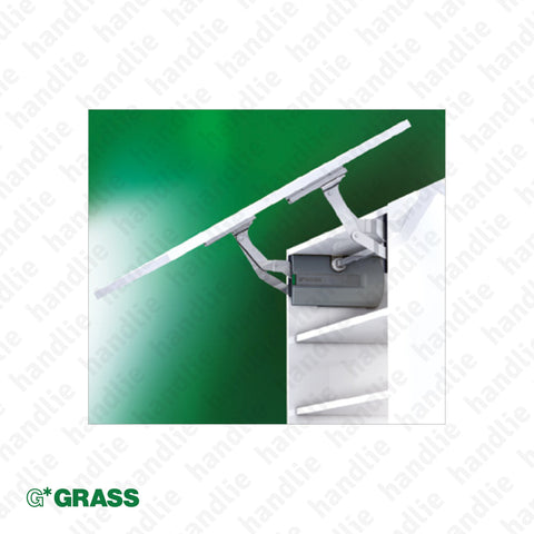 CM.S35 - KINVARO Lid Stay - Lift mechanism with reinforced and adjustable spring - damper - 3D Adjustment | GRASS