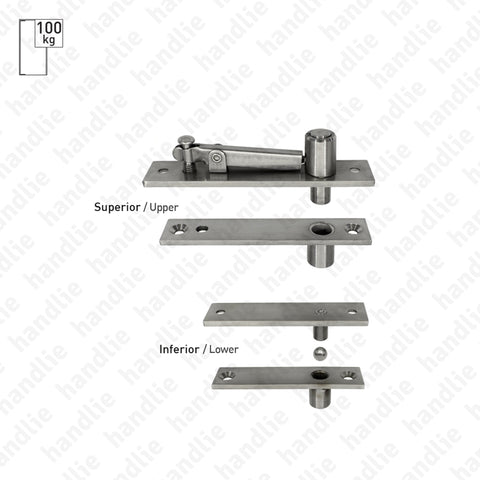 D.1960 - Pivot for single or double action doors - Stainless Steel