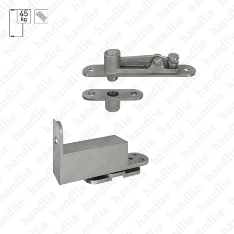 D.1992 - Pivot with double action spring - Stainless Steel