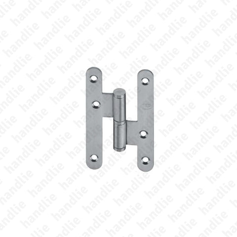 IN.05.018.ECO - Hinge with H-shaped round leaves - Stainless Steel